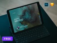[Free] Mockup iPad Pro Sketch and PSD