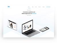 Muze Innovation Web Design muze company brand job desktop ecommerc website web clean sketch ux design ui