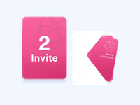2x Dribbble invites! invitation card mail invitation invite dribbble ui free