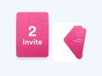 2x Dribbble invites! invitation card mail invitation invite dribbble ui free