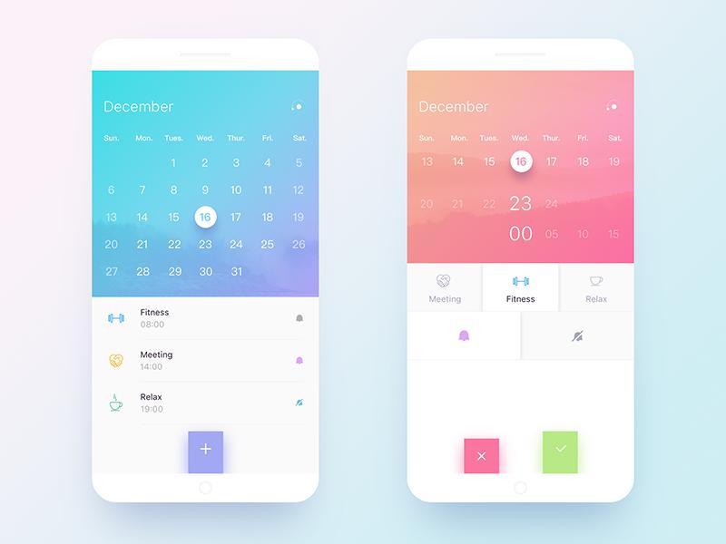 Calendar Design Application : Calendar design by xer lee dribbble