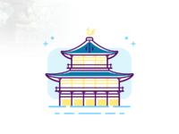 西国八景—鹿苑金阁寺