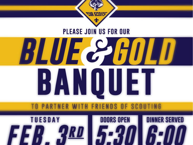 Cub Scout Invite blue gold banquet invite cub scouts cub scouts
