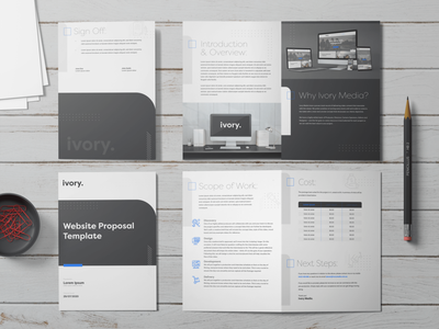 Ivory Media - Proposal Template Design pdf design proposal template proposal design