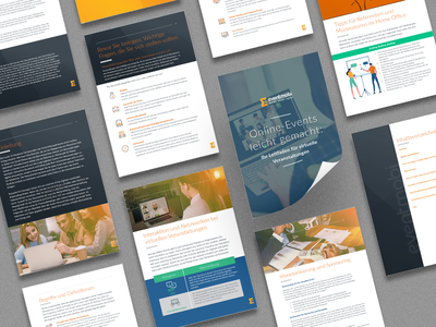 Eventmobi - PDF Design sales collateral pdf design eventtech