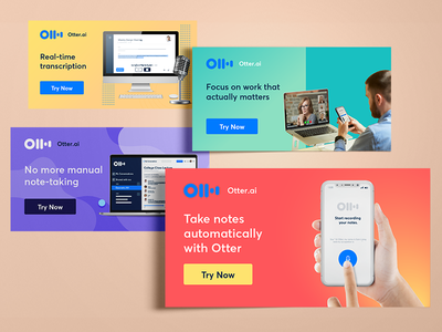 Otter.ai - Static Ads display ads ads