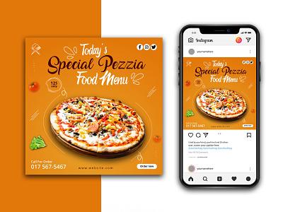 Hot Pizza Banners Instagram Template branding graphic design