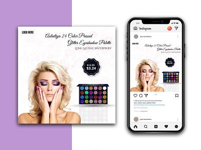 Beauty Product Instagram Banner logo branding graphic design lipstick