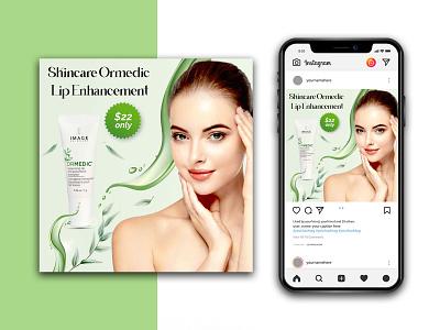 Beauty Product Instagram Template logo branding graphic design lipstick