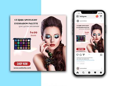 Beauty Banner Instagram Template branding graphic design lipstick