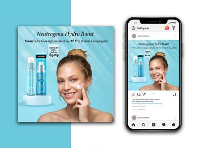 Beauty Product Instagram banner template branding logo graphic design lipstick