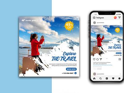 Travel Social Media Instagram Template summervacation