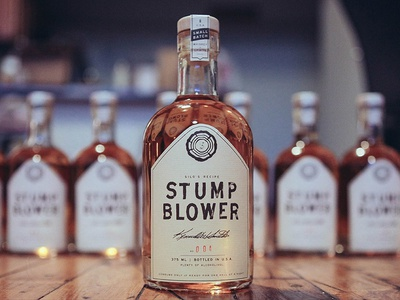 Stumblower Label woods branding bottle michigan detroit liquor label alcohol packaging whiskey vodka stumpblower