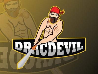 Devil logo flat branding illustrator graphic design vector logo illustration design