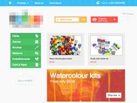 Craft Supplies shop homepage