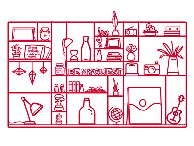 Adagio - Be my guest illustrator art bicolor line icons line icon line art lineart illustrator background design animate design motion vector illustration animation vector illustration
