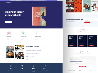 nextBook - Book landing, Book Promotion, Author Template elementor templates elementor design
