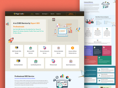 SEO Service Page Design pageranky seo agency web design web design agency ui web elementor templates elementor design