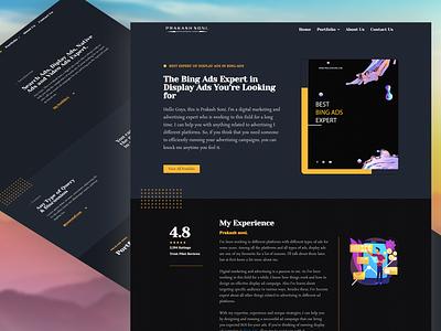 Portfolio Page Design in Elementor webdesign portfolio design portfolio branding web elementor templates elementor design