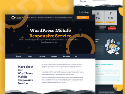 Wordpress mobile responsive service page design service design agency wordpress design wordpress web elementor templates elementor design