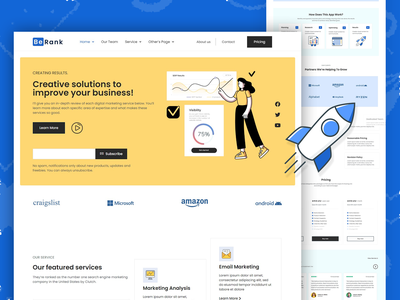 Creative Agency Homepage-3 Design simple design minimal elementor wordpress page design ui deisgn template seo agency creative