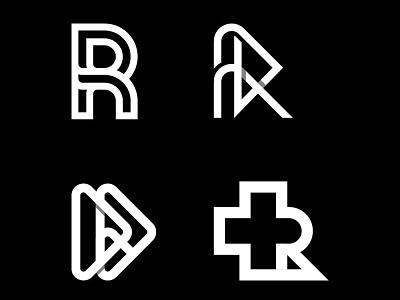 R monogram negativespace corporatelogo letterr graphic design minimal logotype mark logomark monogram logo