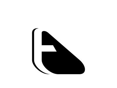 t triangle negativespace minimal branding monogram design graphic design logo