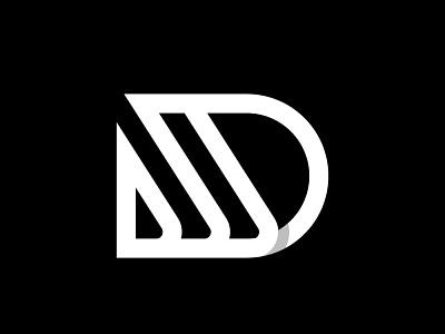 DJ monogram business minimal negativespace mark lettermark monogram design graphic design logo