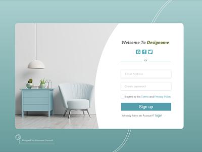 Sign Up design ui