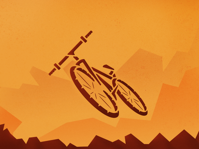 Mountain bike sport bicycle bike mountain