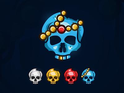 Skulls jewelry pirates red skulls