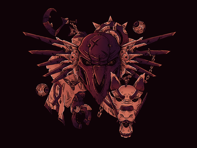 Overwatch illustation. mercy dragon gaming reaper overwatch