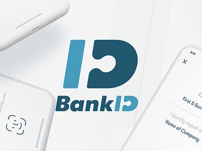 Bank ID ux ui brand logo bank app