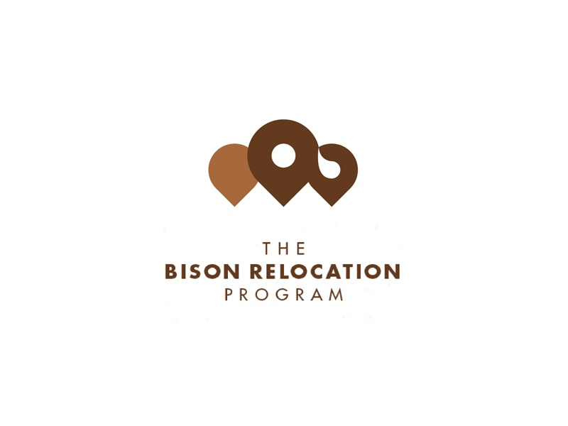 Simplified Bison Relocation location pin buffalo bison rebound