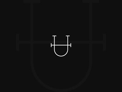 H-U Monogram Logo branding inicial monogram logo