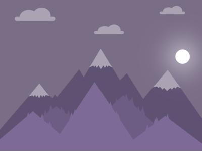 Midnight Mountains portfolio moon night mountains