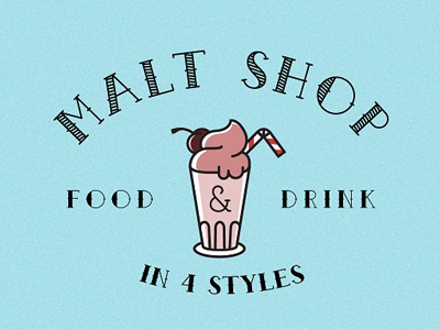 Malt Shop Font typeface ice cream tattoo lettering type font