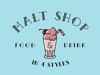 Malt shop font d2