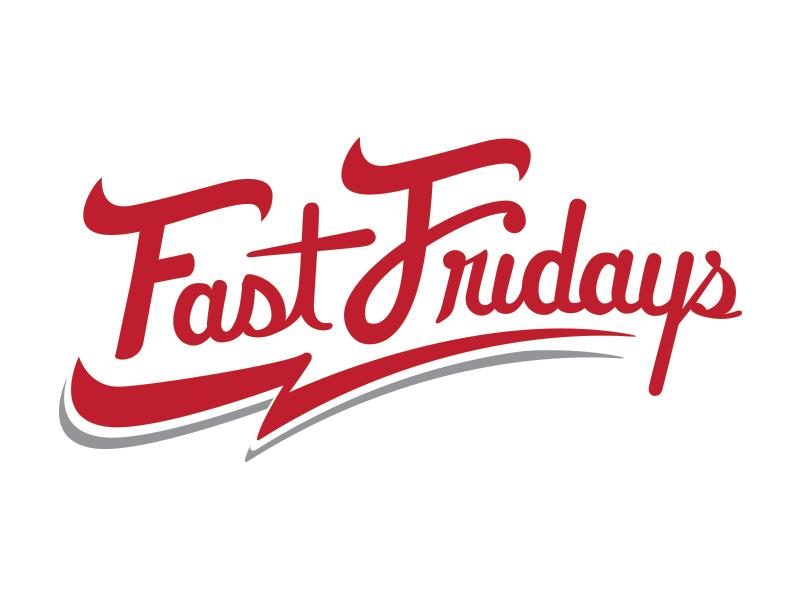 Logo Concept for Fast Friday Harness Racing glyph logotype wordmark logo script