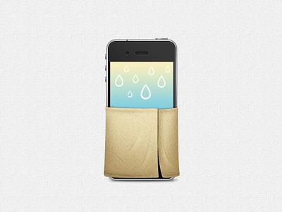 iPhone in sauna sauna iphone mobile element ui