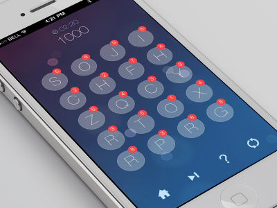 Logic game GUI iOS 7 style logic game interface gui ios 7