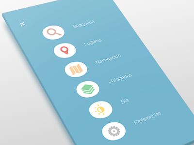 Menu for App mobile ui interface menu