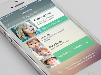 Kid's app UI mobile ui interface ios