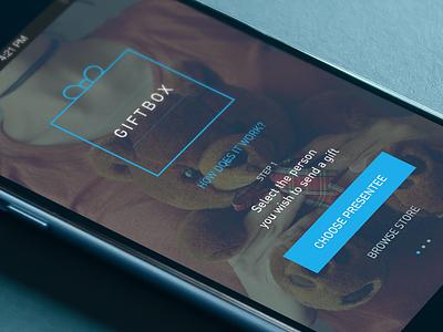 iOS App UI present gift interface gui ios