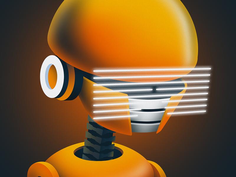 Robot Illustration vr illustration robot