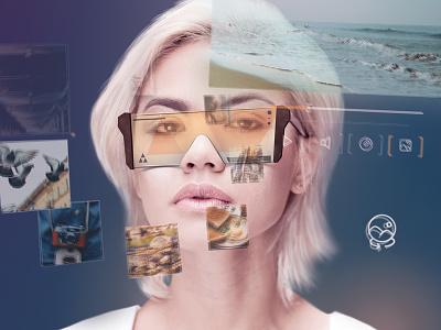 VR Furutistic Model headset vr