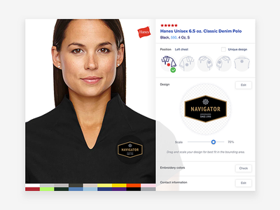 Embroidery Wizard UI inteface ui ux