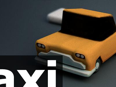 3D Experience c4d 3d taxi