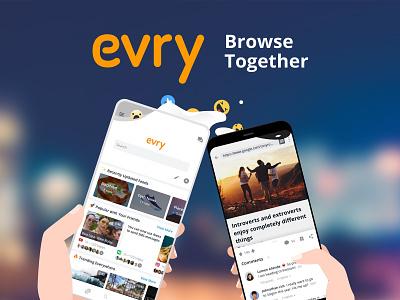Evry Illustration vector app design mobile illustration