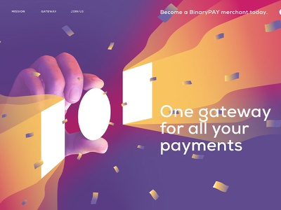 BinaryPay Web Graphics binary pay payment gateway payment system hero banner website web design illustration branding